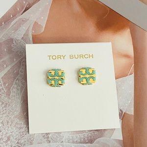 Tory Burch T logo earrings